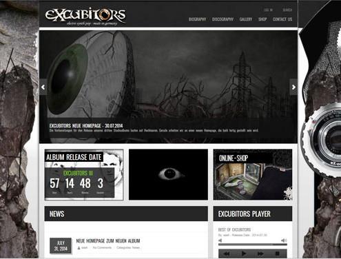 Webseite und Design - Deutsche Elektro Pop Band